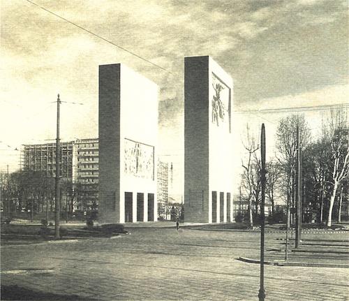 Renzo Zavanella e Lucio Fontana, Progetto di concorso per il Monumento alla Vittoria d?Africa in piazzale Fiume, 1937