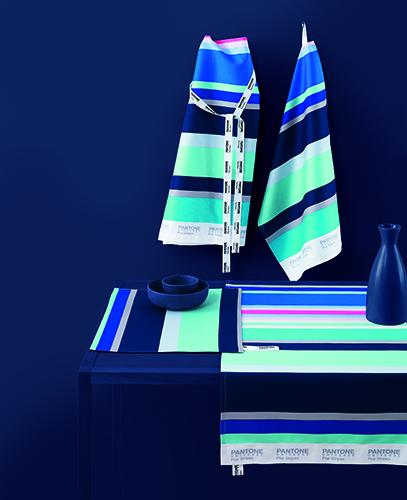 Set da cucina con disegno a bande multicolore Pop Stripe