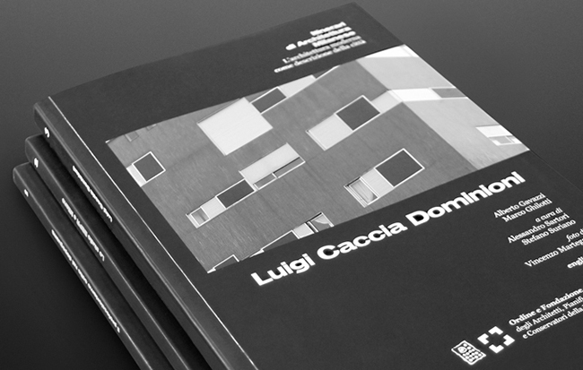 """Copertina del volume """"Luigi Caccia Dominioni"""" per la collana """"Itinerari di architettura milanese"""""""