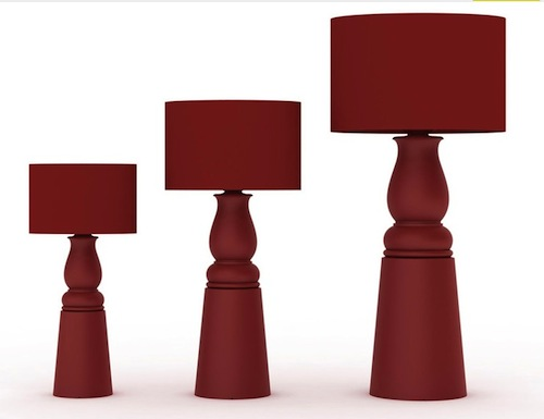 Disegnata da Marcel Wanders, la Farooo Lamp viene prodotta dall'azienda olandese Moooi