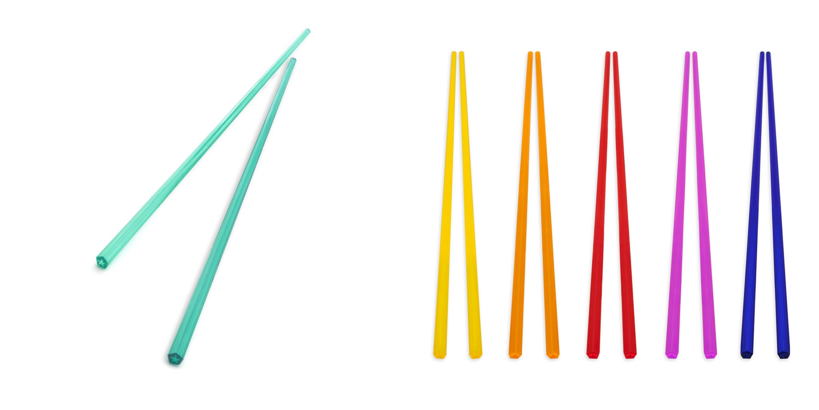 Mario Bellini, bacchette colorate che insieme formano l'arcobaleno