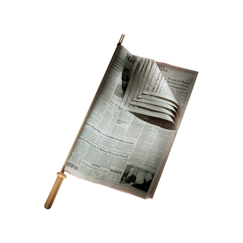 Reggigiornale in legno di ciliegio di Kuno Prey per Alessi