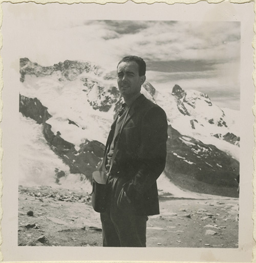 Vico Magistretti a Zermatt (crediti: Fondazione studio museo Vico Magistretti)