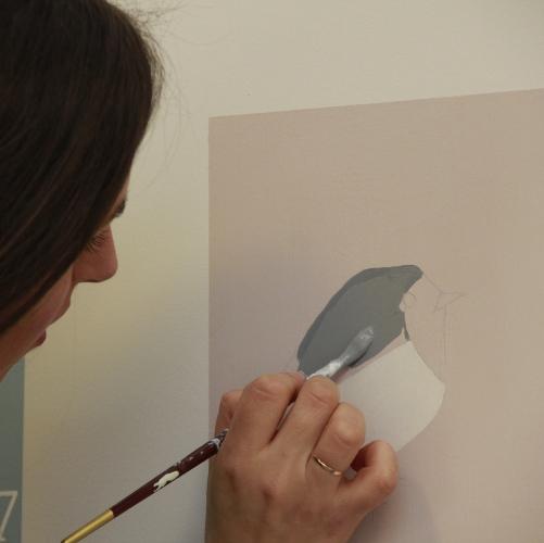 Le decorazioni su parete sono disegnate a mano libera