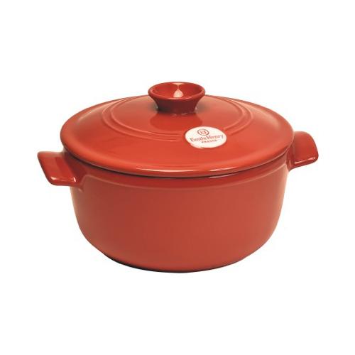 Emile Henry: cocotte rotonda in ceramica Flame adatta alle cotture sulla fiamma. Nel nuovo colore Brique (mattone) è disponibile nelle dimensioni da 22 a 30 centimetri di diametro. Prezzo da € 80,50 a € 130,90