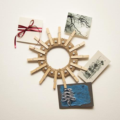 Le mollette si staccano dal filo recupero creativo ecco - Portafoto con molletta ...