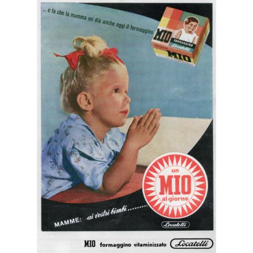 Pagina pubblicitaria, 1952 circa