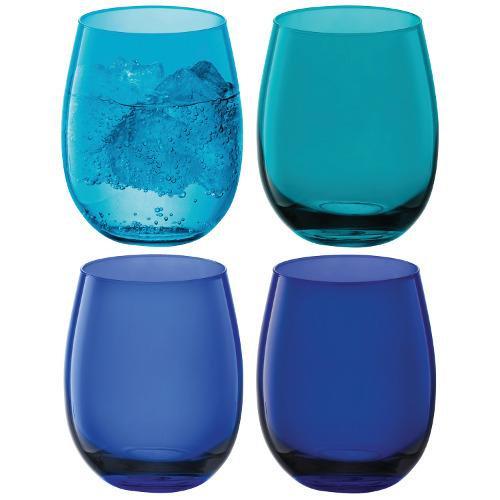 Lsa International sceglie i colori del mare per la collezione di bicchieri Coro. Set da 4 pezzi 30 euro