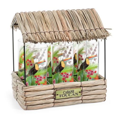 Sapore esotico per l'originale Capanna Tucano di Maisons du Monde, la confezione con 6 bicchieri costa 29,99 euro