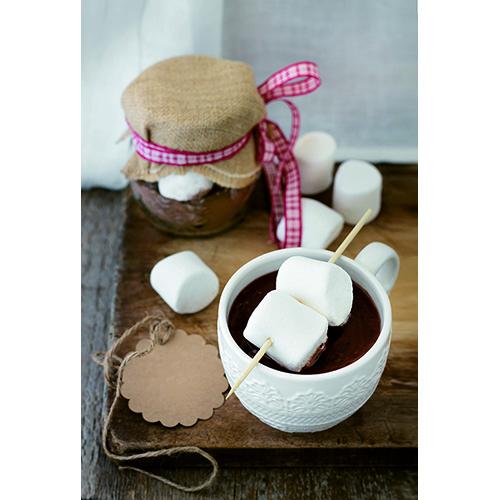 Un regalo per un'amica? Il barattolo contiene tutti gli ingredienti necessari per una golosa cioccolata calda