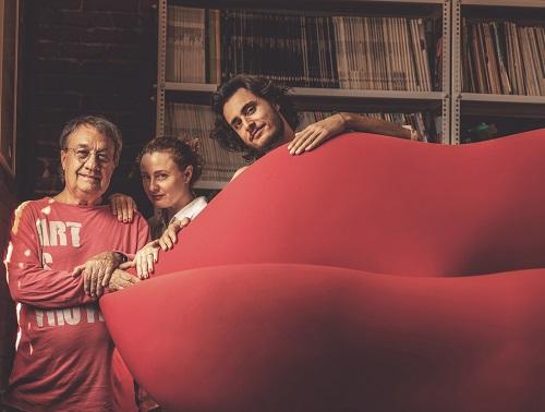 Franco Audrito, Maria Cristina Didero e Charley Vezza ritratti da Alberto Peroli, 2015, courtesy Gufram