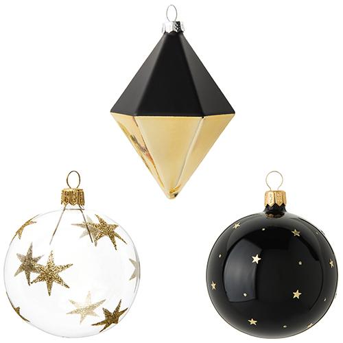 L'eleganza del nero abbinata all'oro e a una pioggia di stelle: è la proposta di Maisons du Monde. Da 2,59 a 3,59 euro