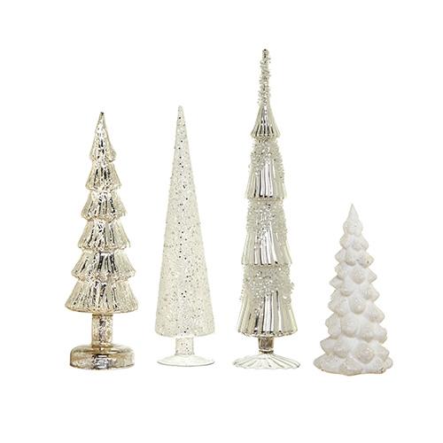 Superfici lucide e brillanti per questi alberi in vetro anticato di Coincasa. Da 16,90 a 29,90 euro