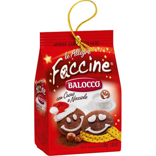 """Per decorare il vostro albero di Natale con """"gusto"""": i Mini Break Balocco sono piccole  confezioni di biscotti con nastrini dorati da appendere"""