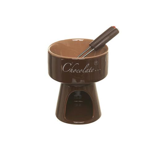 Per i più golosi: set in ceramica per fonduta di cioccolato di Coincasa (9,90 euro)