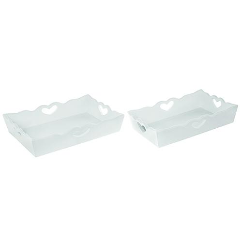 Per servire la colazione a letto il vassoio in legno rettangolare di Coincasa nella versione mini o maxi (da 12,45 a 14,95 euro)