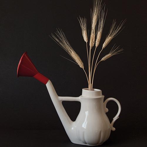 Un po' innaffiatoio, un po' vaso e un po' teiera. È Swan di Antonio Aricò per Seletti (47 euro)