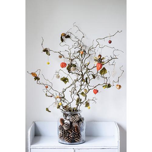 Louise Curley in Natura in casa spiega come realizzare meravigliosi bouquet, decorazioni, centrotavola trasformando semi, fiori, foglie, legnetti e ramoscelli