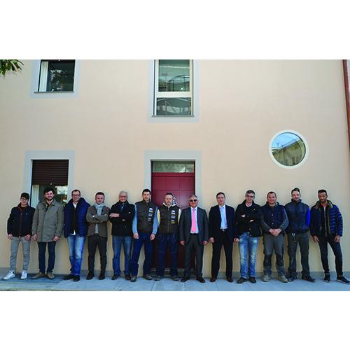 La squadra che ha realizzato un'abitazione in classe A+, da poco ultimata a Modena