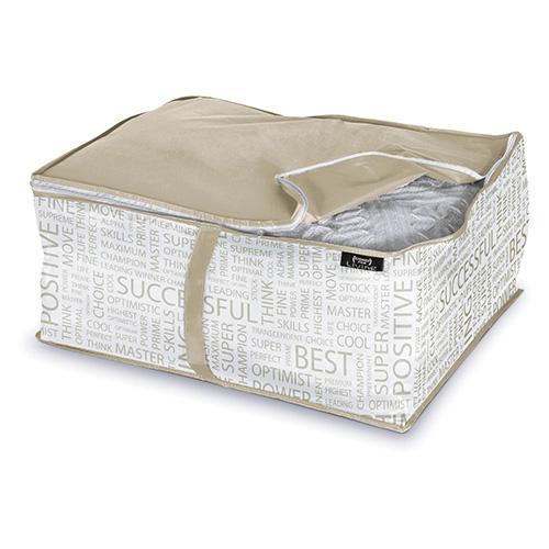 Custodia per coperte Domopak Living della Urban gold collection (da 3,10 a 4,20 euro). La serie è ricca di soluzioni per organizzare l'armadio e proteggere i capi