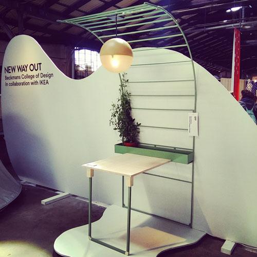 """Il modulo da balcone """"Eff"""" di Sara Sjöbäck fa parte del progetto New Way Out che ha visto anche la collaborazioen di Ikea"""