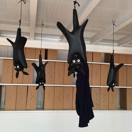 Appendiabiti in fibra di vetro a forma di pipistrelli, di MM Design Marco&Marco