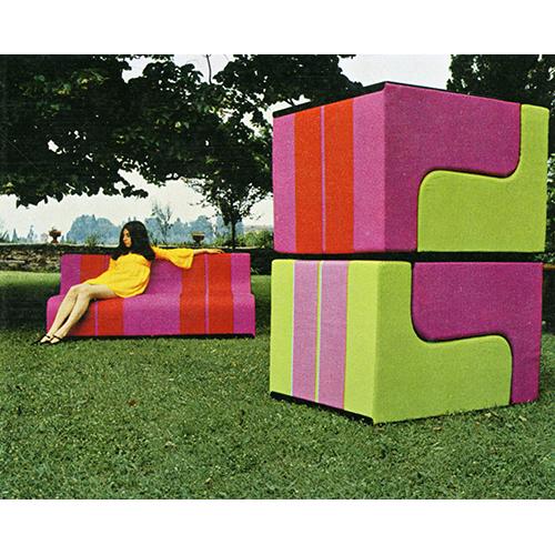 Superstudio, Sofo, Poltronova - 1968, seduta componibile, (foto C. Toraldo di Francia)