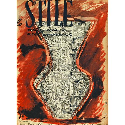 """Stile"", n. 3, marzo 1941, Lina Bo e Gio Ponti, copertina"