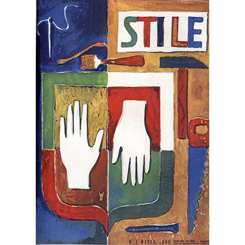 """""""Stile"""", n. 3, marzo 1946, copertina di Gio Ponti"""