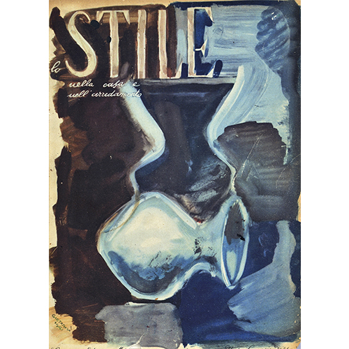 """""""Stile"""", n. 1, gennaio 1941, Gio Ponti, copertina"""