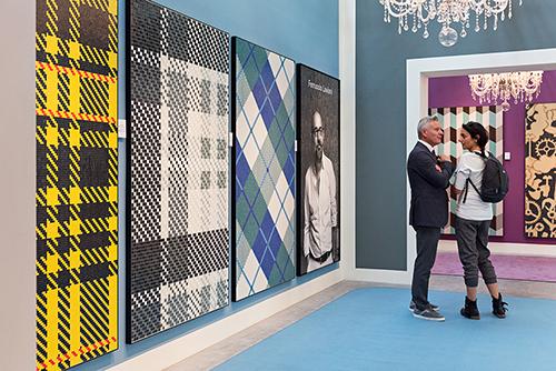 I nuovi pattern in mosaico ispirati ai tessuti tartan firmati Ferruccio Laviani per Bisazza