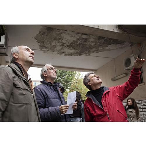 Sopralluogo del gruppo G124 nel quartiere. Marco Ermentini, Ottavio Di Blasi, Renzo Piano
