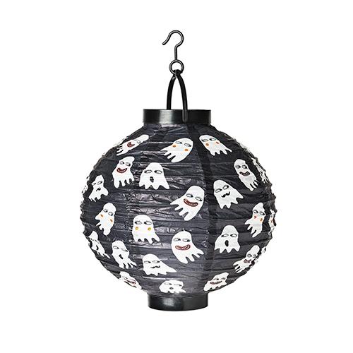 La tenue luce della lanterna vi aiuta e creare la giusta atmosfera. Flying Tiger Copenhagen le decora con simpatici fantasmini (3 euro)