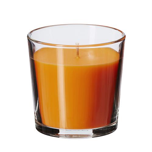 Ad Halloween l'atmosfera macabra la si ottiene con un gioco sapiente di candele, di colore arancione   (ovviamente) e al profumo di mandarino (di Ikea, 1,60 euro)