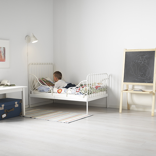 Minnen di Ikea è il letto che si può allungare man mano che il bambino cresce