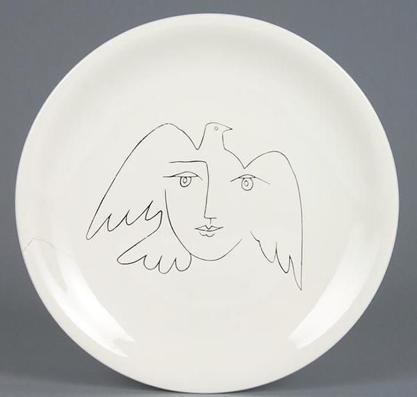 Pablo Picasso, Volto-Colomba della Pace, 1955