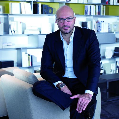 Massimiliano, il figlio di Giorgio Busnelli, è nel centro ricerche e sviluppo B&B Italia