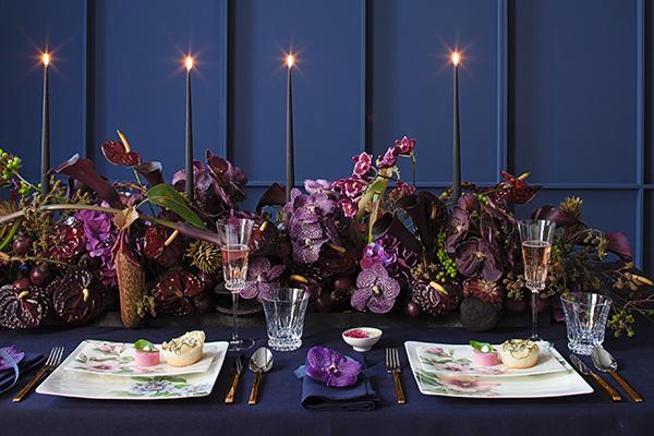 Villeroy & Boch sostituisce i tradizionali rami di pino e Stelle di Natale con fresche orchidee