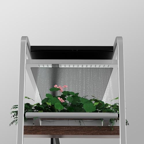 Per gli amanti dei fiori The Omnidesk di Viking prevede anche una fioriera auto-innaffiante