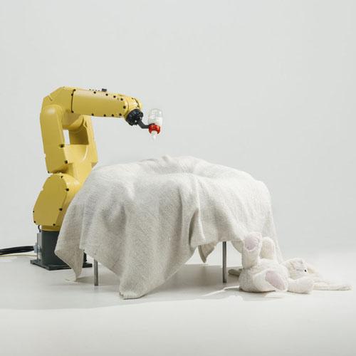 Stephan Bogner, Philipp Schmitt und Jonas Voigt, »Raising Robotic Natives«, 2016, © Jonas Voigt