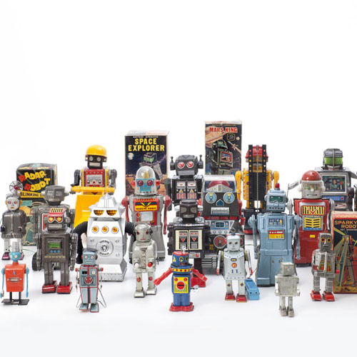 Various Manufacturers, »Vintage Toy Robots«, 1956 ? 1980. Courtesy private collection. Photo: Andreas Su?tterlin, 2016