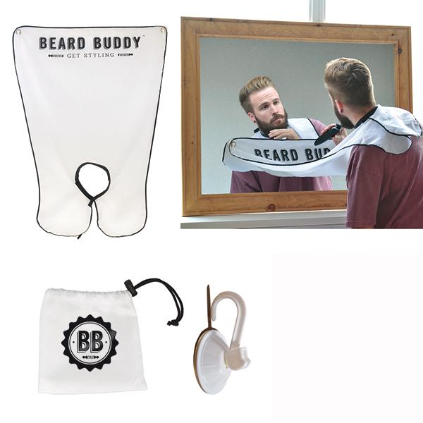 Addio ai peli nel lavabo con Country-chic barbiere, la mantellina per fare la barba dotata di ventose da applicare allo specchio. Un'originale idea di Maiuguali che farà felici soprattutto le donne