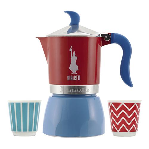 A colazione non può mancare l'immancabile caffè così come il brontolio mattutino della moka. Bialetti presenta la nuova collezione Pop all'insegna del colore: le mug sono coordinate con le caffettiere Fiammetta (24,99 euro) e Mini Express