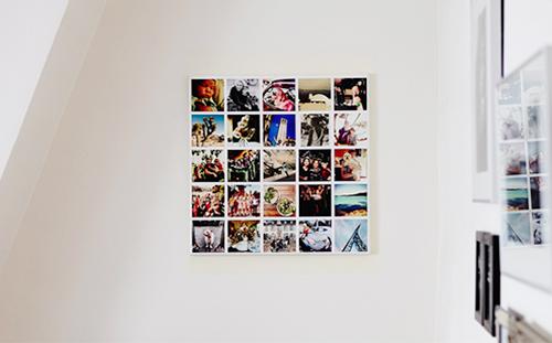 Foto su tela, formato 50x50 centimetri. Sullo stesso supporto potrete inserire 25 scatti e poi vestire gli angoli nudi di casa