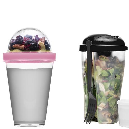 Freschezza assicurata con i contenitori di Sagaform per yogurt (circa 8 euro) o insalata (circa 7,50 euro - distribuito da Schoenhuber)