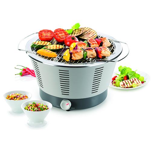 Dalla linea Party time di  Tescoma il barbecue portatile pronto all'uso in appena 5 minuti dall'accensione (149,90 euro)
