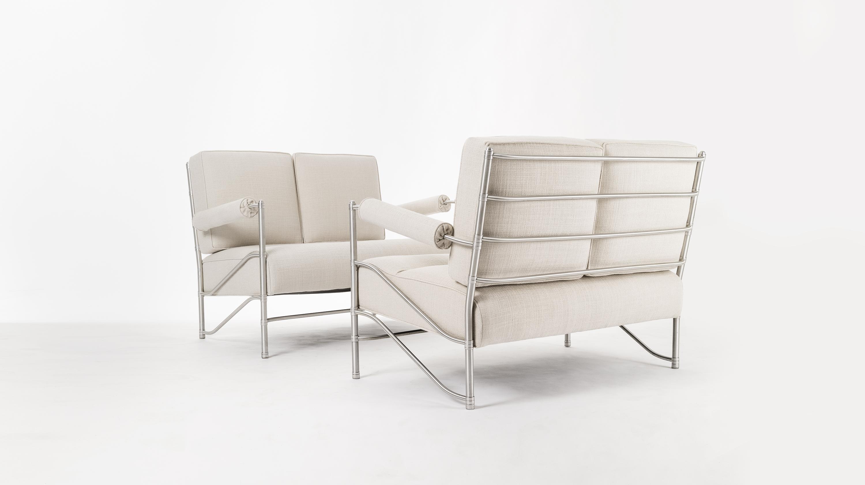 Divano - Alluminio, rame e tappezzeria -  25.000/35-000 euro