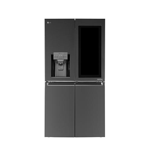 Il frigorifero Door-in- Door di LG ha un display touch LCD da 29 pollici che, grazie alla caratteristica InstaView, diviene istantaneamente trasparente con solo due colpi sullo schermo e permette di vedere al suo interno senza dover aprire la porta