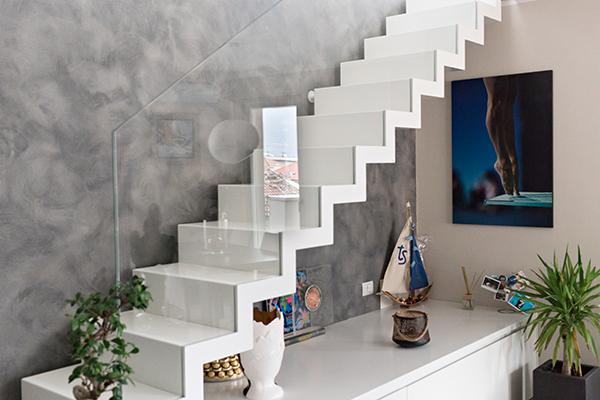 Il piano superiore dell'attico di 110 metri quadrati