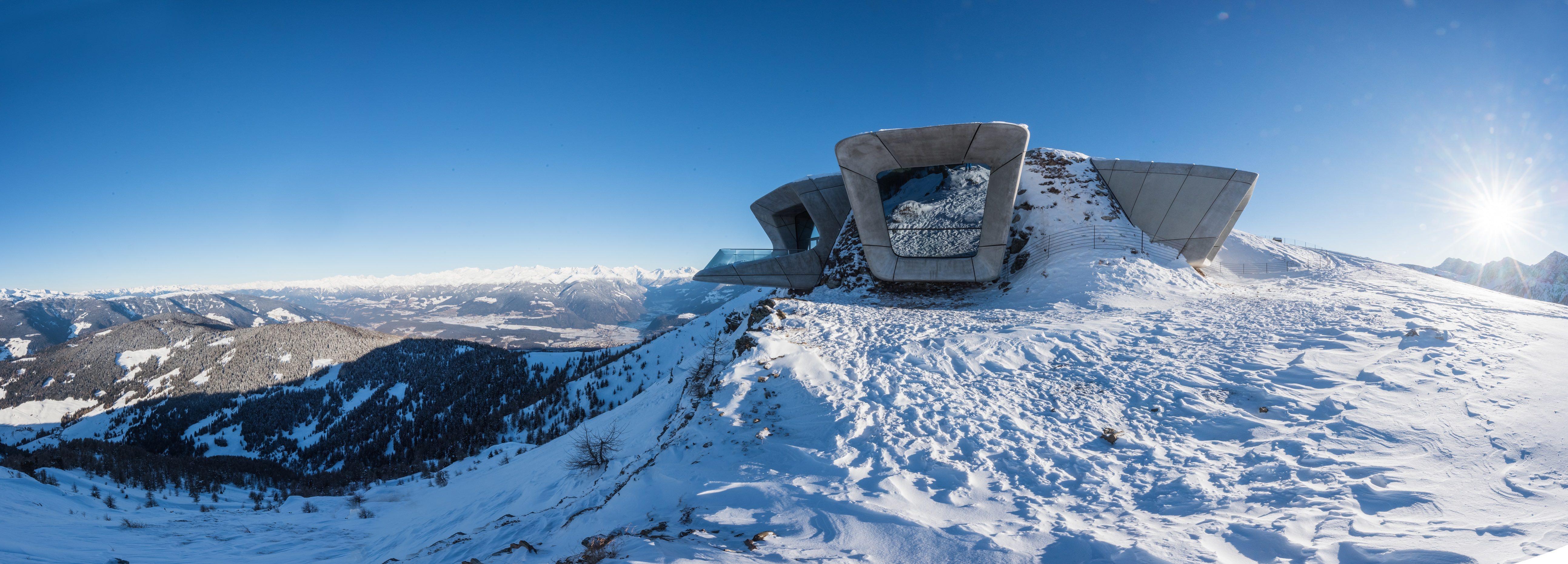 Zaha Hadid Messner Mountain Museum (Museo della montagna Messner), Plan de Corones 2015 Foto Harald Wisthaler, courtesy Zaha Hadid Architects